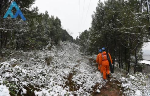 四川阆中市供电公司:风雪中的巡线人